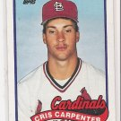 1989 TOPPS CRIS CARPENTER CARDINALS CARD