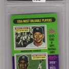 1975 TOPPS MINI MICKEY MANTLE/DON NEWCOME MVP CARD GRADED 9!