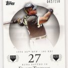 2007 TOPPS MOMENTS & MILESTONES FRANK THOMAS WHITE SOX INSERT #'D 042/150!