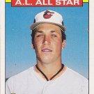 1986 TOPPS CAL RIPKEN ORIOLES ALL STAR CARD