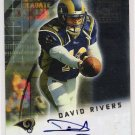 2001 BOWMAN DAVID RIVERS RAMS CERTIFIED AUTOGRAPHED ROOKIE CARD
