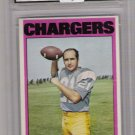 1972 TOPPS JOHN HADL CHARGERS CARD GRADED FGS 10!