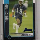 2002 BOWMAN DARRELL HILL TITANS UNCIRCULATED ROOKIE CARD