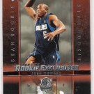 2003-04 UPPER DECK ROOKIE EXCLUSIVES JOSH HOWARD MAVERICKS ROOKIE CARD