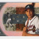 2000 SP ANDRUW JONES BRAVES UNITED NATIONS INSERT CARD