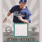 2004 UD SWEET THREADS BRIAN GILES PADRES JERSEY CARD