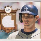 2003 UPPER DECK HONOR ROLL SHAWN GREEN DODGERS GAME WORN JERSEY CARD