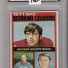1972 TOPPS NFC SCORING LEADERS KNIGHT/MANN/GOSSETT CARD GRADED FGS 10!