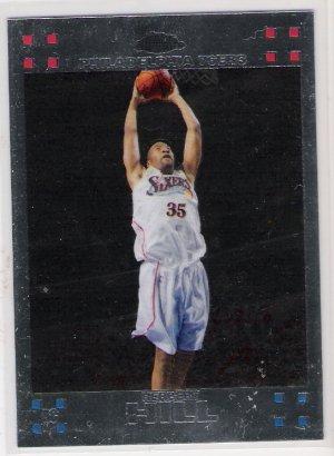 2007-08 TOPPS CHROME HERBERT HILL 76ER'S ROOKIE CARD