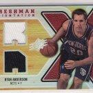 2008-09 UPPER DECK SPX RYAN ANDERSON NETS FRESHMAN ORIENTATIONS DUAL JERSEY CARD