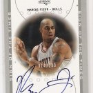 2001 SP AUTHENTIC MARCUS FIZER BULLS SIGN OF THE TIME AUTOGRAPHED CARD #'D 014/200!