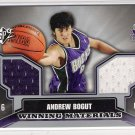 2005-06 SPX ANDREW BOGUT BUCKS WINNING MATERIALS DUAL JERSEY CARD
