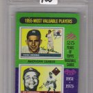 1975 TOPPS MINI YOGI BERRA/ROY CAMPANELLA 1955 MVP'S CARD GRADED FGS 9!