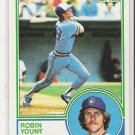 1983 TOPPS ROBIN YOUNT BREWERS CARD