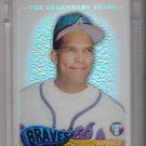 2005 TOPPS PRISTINE LEGENDS DAVID JUSTICE BRAVES UNCIRCULATED REFRACTOR CARD #'D 348/549!