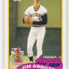 1989 TOPPS JIM ABBOT ANGELS ROOKIE CARD