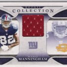 2008 DONRUSS THREADS MARIO MANNINGHAM GIANTS ROOKIE JERSEY CARD #'D 293/500!