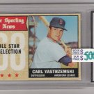 1968 TOPPS CARL YASTRZEMSKI AS CARD GRADED FGS10!