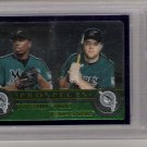 2003 TOPPS CHROME DONTRELLE WILLIS/JASON STOKES PROSPECTS CARD GRADED FGS 10!