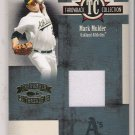 2005 DONRUSS THROWBACK COLLECTION MARK MULDER A'S JERSEY CARD #'d 038/100!