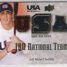 2008 UPPER DECK USA BASEBALL JEFF MALM USA JERSEY CARD #'D 066/179!