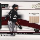 2003 PLAYOFF PIECE OF THE GAME CARLOS LEE WHITE SOX BAT CARD #'D 40/50!!!