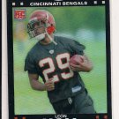 2007 TOPPS CHROME LEON HALL BENGALS ROOKIE REFRACTOR CARD