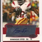 2006 ASPIRE DOMINIQUE BYRD TROJANS ROOKIE AUTO CARD
