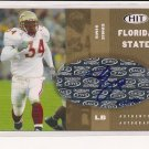 2006 SAGE HIT ERNIE SIMS LIONS GOLD AUTO ROOKIE CARD #'D 145/250!