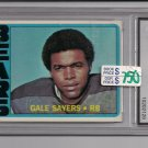 1972 TOPPS GALE SAYERS BEARS CARD GRADED FGS 10!