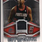 2007-08 UD SP MARTELL WEBSTER TRAILBLAZERS CUT FROM THE CLOTH JERSEY CARD