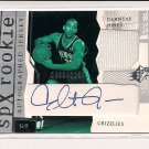 2003-04 UD SPX DAHNTAY JONES AUTOGRAPHED/JERSEY ROOKIE CARD #489/1250!