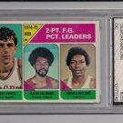 1974-75 TOPPS BOBBY JONES/ARTIS GILMORE/MOSES MALONE ABA 2 PT LEADERS CARD GRADED FGS 9!