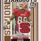 2007 TOPPS DPP DALLAS BAKER GATORS ROOKIE SENIOR BOWL JERSEY CARD