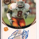2006 PRESSPASS TYE HILL RAMS ROOKIE AUTOGRAPHED CARD