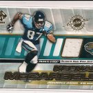 2001 PRIVATE STOCK KEENAN MCCARDELL JAGUARS GAME-WORN JERSEY CARD