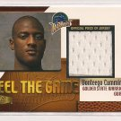 1999-00 FLAIR SHOWCASE VONTEEGO CUMMINGS WARRIORS FEEL THE GAME JERSEY CARD