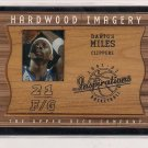 2001-02 UD INSPIRATIONS DARIUS MILES HARDWOOD IMAGERY FLOOR CARD