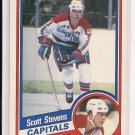 1984-85 TOPPS SCOTT STEVENS CAPITALS CARD