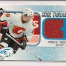 2005-06 UPPER DECK ICE MATTHEW LOMBARDI FLAMES COOL THREADS RED JERSEY CARD