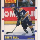 1990 SCORE BRETT HULL BLUES RECORD SETTERS CARD