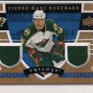 2008-09 UD TRILOGY PIERRE-MARC BOUCHARD WILD HONORARY SWATCHES DUAL JERSEY CARD