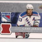 2008-09 UPPER DECK SERIES 1 CHRIS DRURY RANGERS JERSEY CARD