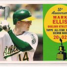 2008 TOPPS 50TH ANNIVERSARY MARK ELLIS ATHLETICS ALL ROOKIE CARD