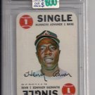 1968 TOPPS GAME HANK AARON CARD GRADED FGS10!