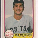 1981 FLEER CARL YASTRZEMSKI RED SOX CARD