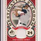 2009 SP LEGENDARY CUTS GRADY SIZEMORE INDIANS DESTINATION STARDOM JERSEY CARD