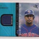 2002 FLEER EX RAUL MONDESI BLUE JAYS ESSENTIALS GAME WORN JERSEY CARD