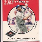 2001 FLEER PLATINUM ALEX RODRIQUEZ CHART TOPPERS
