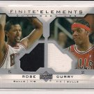 2003-04 UPPER DECK FINITE ELEMENTS JALEN ROSE/EDDY CURRY BULLS DUAL WARM-UPS CARD